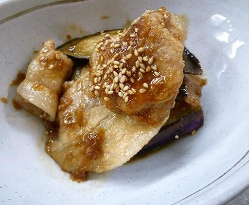 豚と茄子の生姜焼き