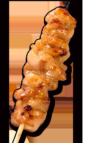 美味しそうなふりそで串の焼き鳥